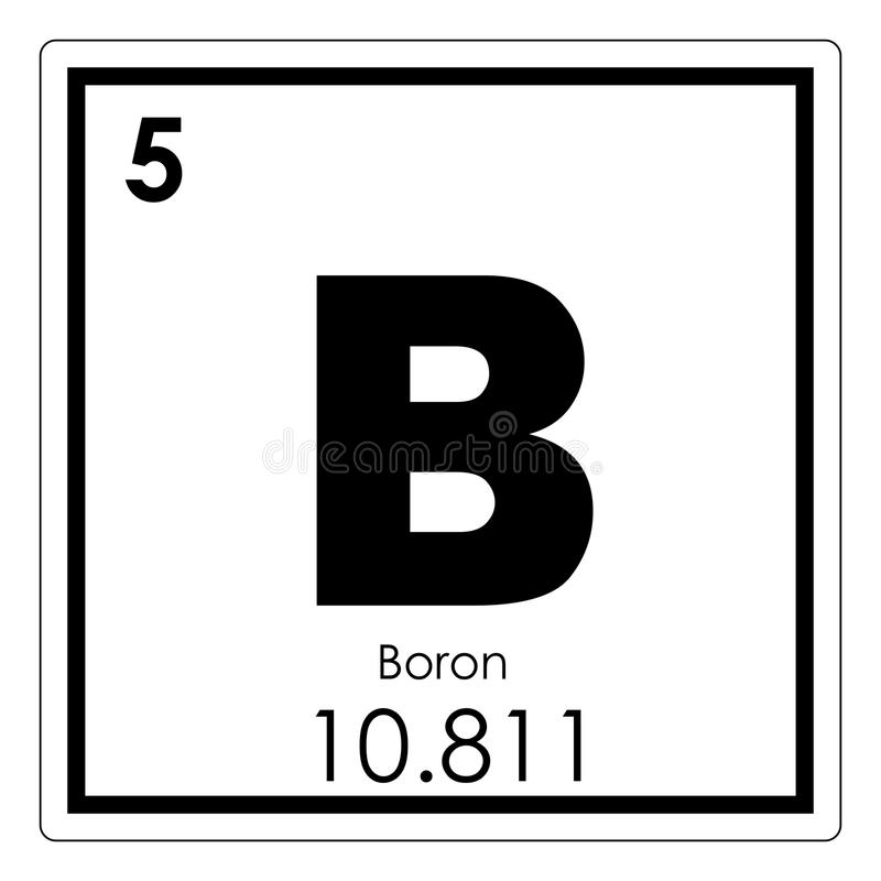 Boron Chemical Element Stock Illustration Illustration Of Periodic