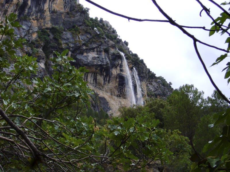 Borosa river waterfall, sierra de cazorla jaen. Spain royalty free stock photography