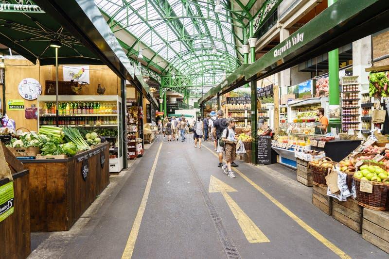 Borough market, London stock image