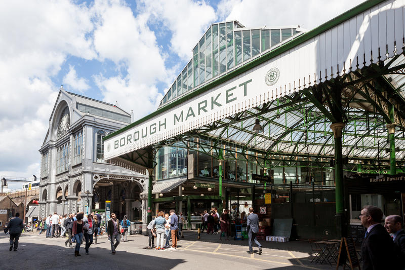 Borough Market, near London Bridge. stock photo