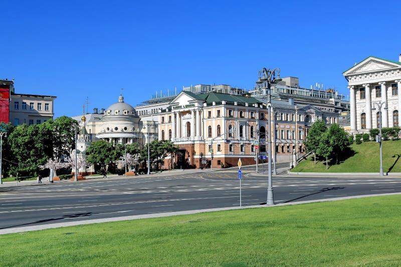 Moscow, Russia - May 26, 2018: Borovitskaya Square near the Moscow Kremlin royalty free stock images