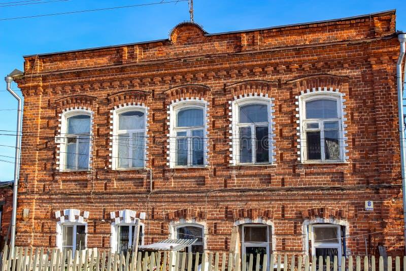 BOROVSK, RUSLAND - NOVEMBER 2016: Straat ` Rabochaya ` in Borovsk royalty-vrije stock foto