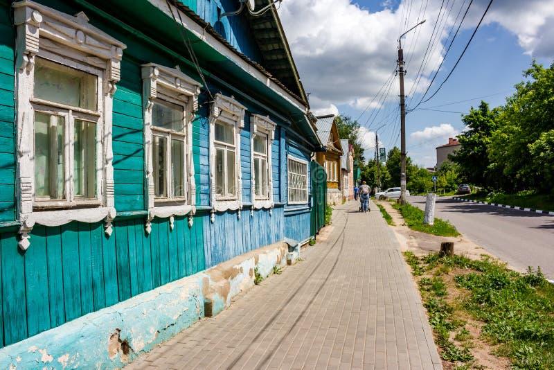 Borovsk, Russie - juin 2019 : Bâtiments peu élevés de la ville de Borovsk photo libre de droits