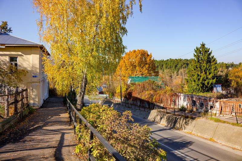 Borovsk, Russie - octobre 2018 : Rue Uritskogo dans la ville de Borovsk image libre de droits