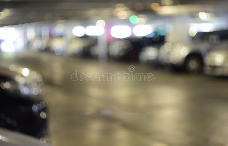 Borrão abstrato do estacionamento do carro imagens de stock royalty free