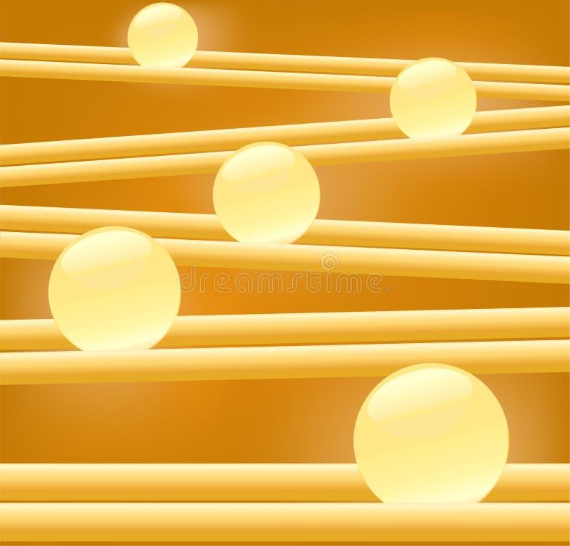 Borrão da luz do fulgor dourado ilustração stock