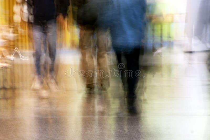 Borrão da multidão fotografia de stock