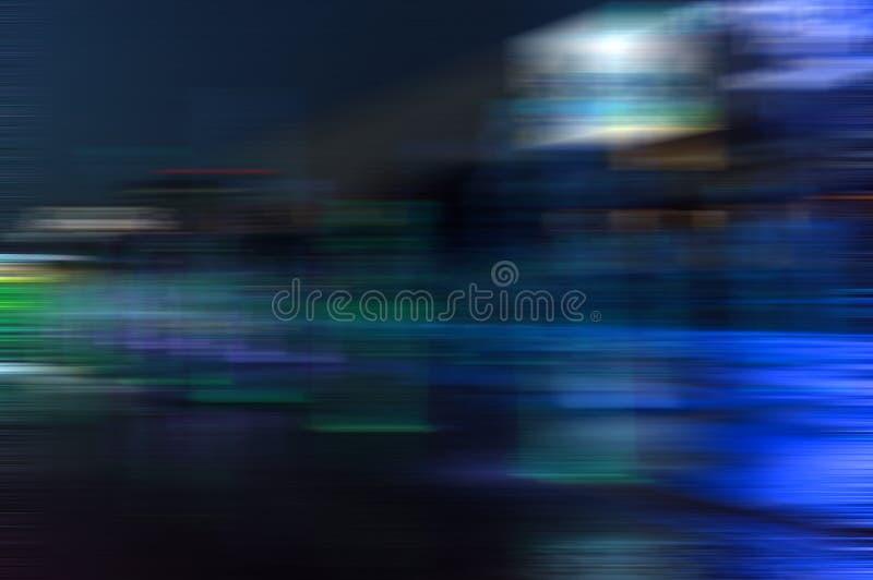 Borrão da noite na cidade foto de stock
