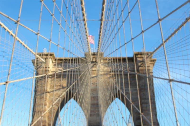 Borrão da ponte de Brooklyn fotos de stock royalty free