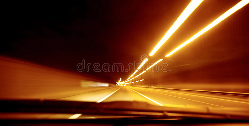 Borrão da velocidade da estrada imagens de stock royalty free