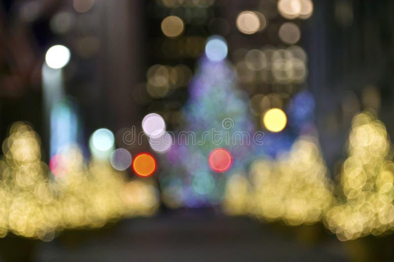 Borrão das árvores de Natal foto de stock royalty free