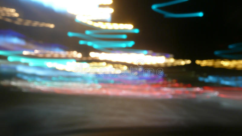 Borrão das luzes da noite foto de stock royalty free