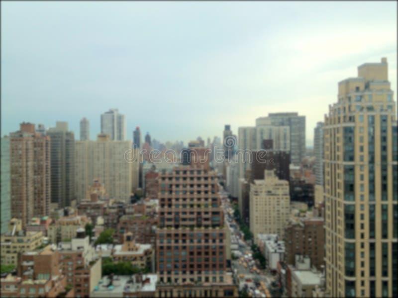 Borrão das torres do condomínio de Manhattan foto de stock