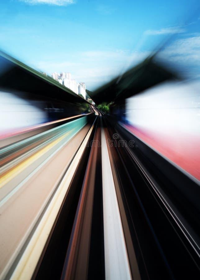 Borrão de movimento colorido do trem de alta velocidade fotografia de stock royalty free