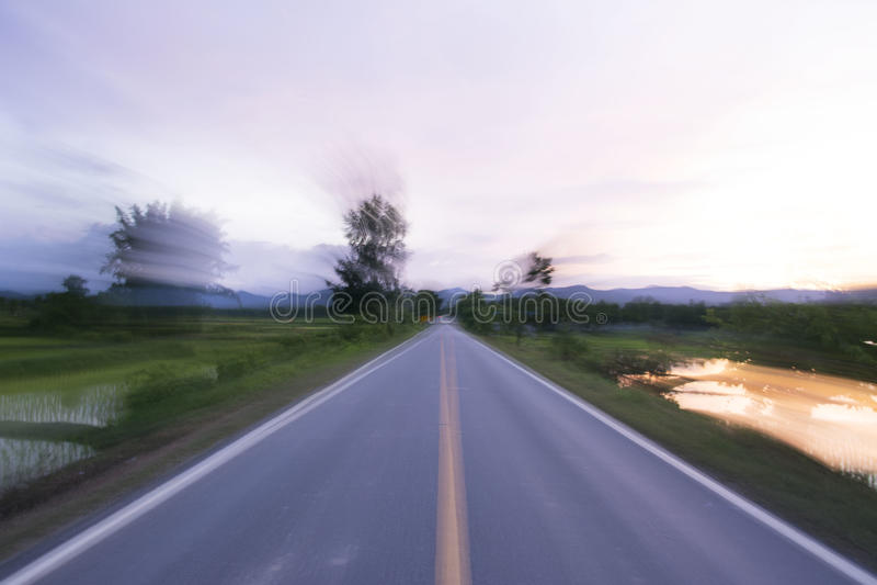 Borrão de movimento da estrada imagens de stock royalty free