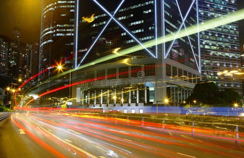 Borrão de movimento do tráfego da velocidade foto de stock royalty free