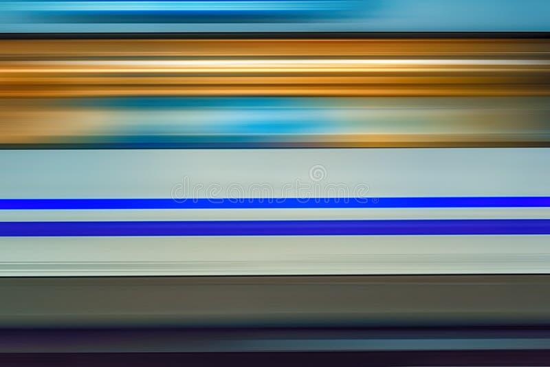 Borrão de movimento do trem de alta velocidade no metro ilustração stock