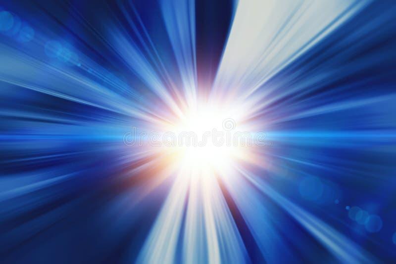Borrão de movimento rápido rápido do sumário do raio claro para o projeto do fundo ilustração stock