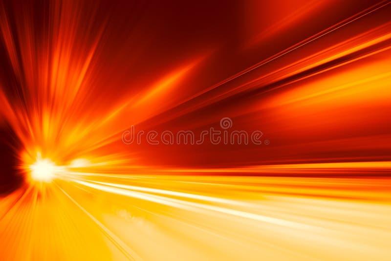 Borrão de movimento rápido super da movimentação do carro rápido da aceleração do sumário o mais rápido claro para o projeto do f fotos de stock
