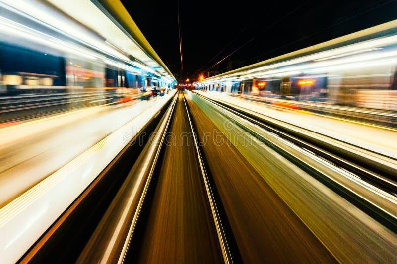 Borrão do curso do trem foto de stock
