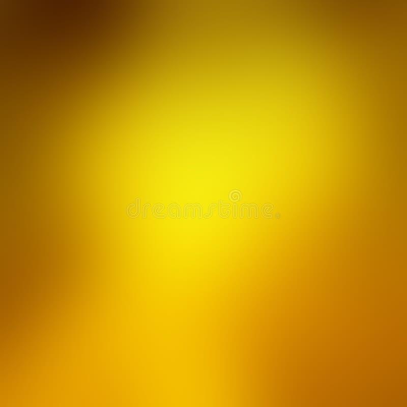 Borrão do fundo do ouro com cores alaranjadas e marrons do outono na beira em um projeto elegante e luxuoso elegante do fundo ilustração do vetor