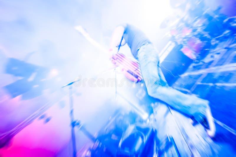 Borrão do guitarrista imagem de stock royalty free