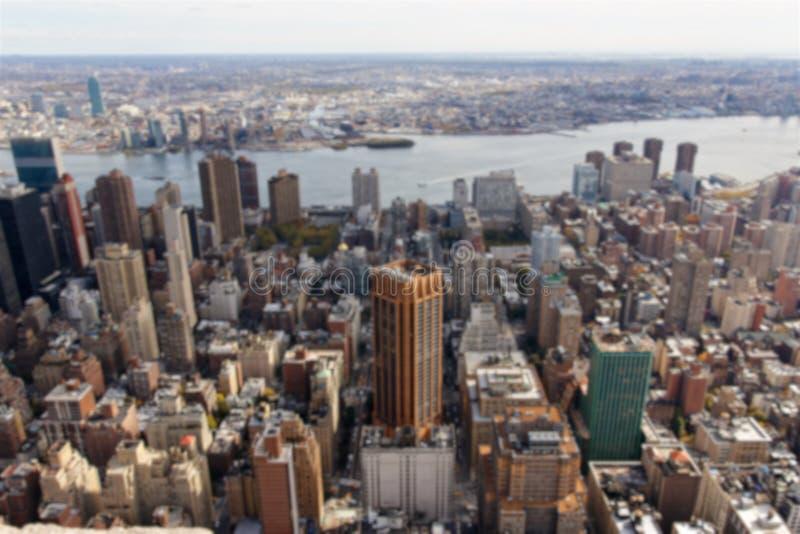 Borrão do leste da opinião de Manhattan foto de stock