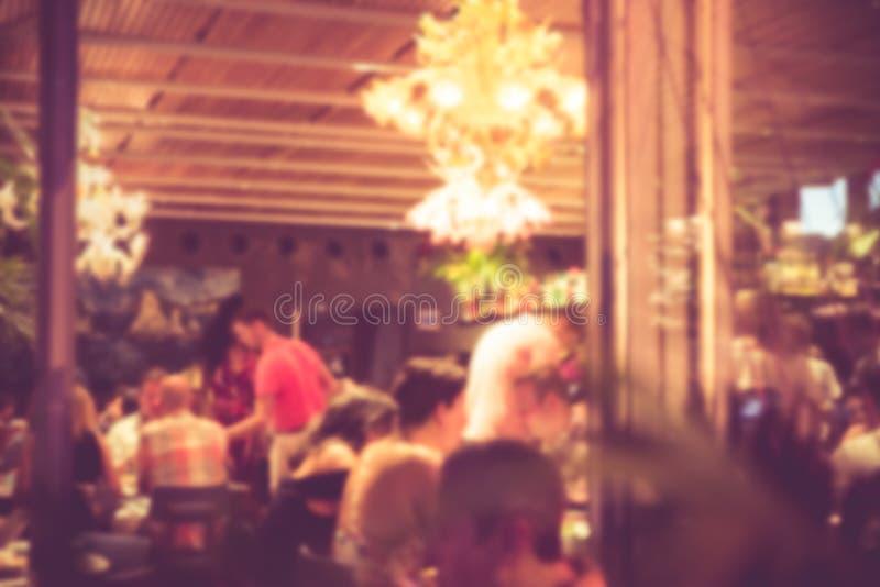 Borrão do restaurante foto de stock royalty free