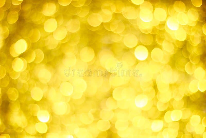 Borrão dourado de Bokeh Luzes de brilho do ouro Círculos de Bokeh ilustração royalty free