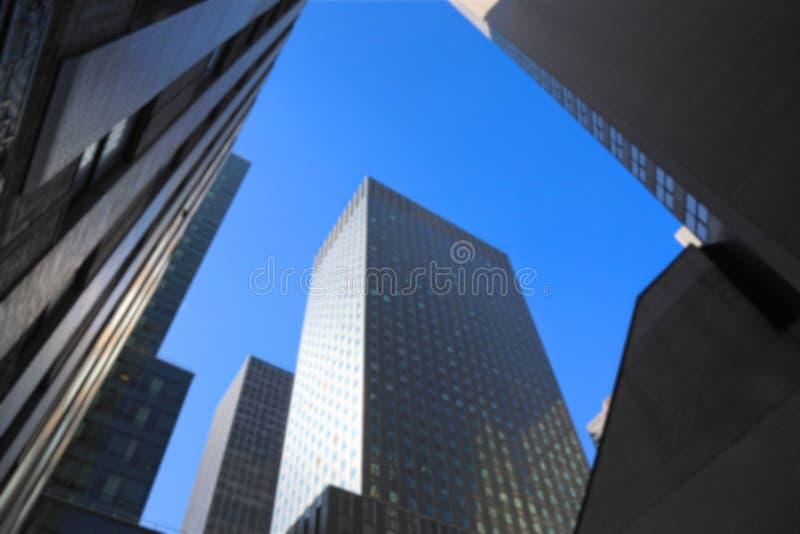Borrão escuro dos arranha-céus de Manhattan fotos de stock