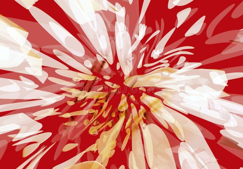 Borrão manchado da flor ilustração royalty free