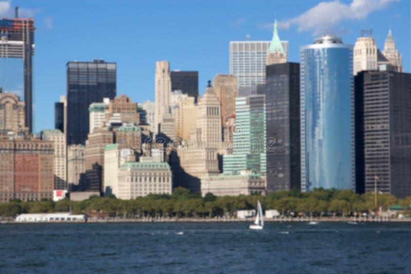 Borrão oriental da skyline de Manhattan fotos de stock