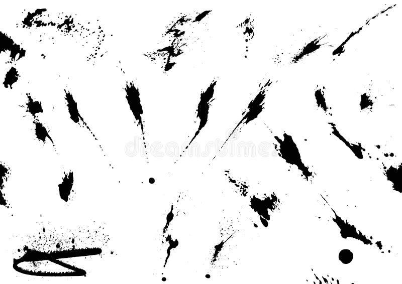 Borrões da tinta ilustração do vetor