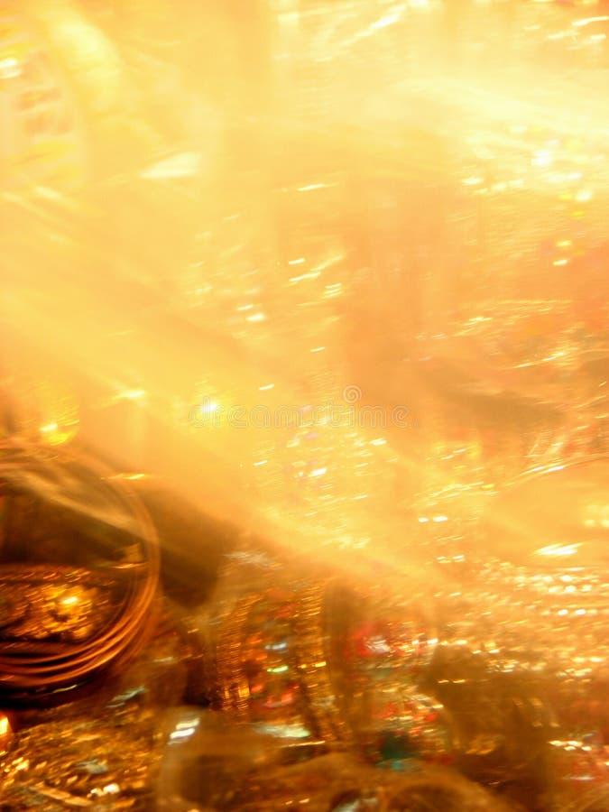 Borrões dourados fotografia de stock royalty free
