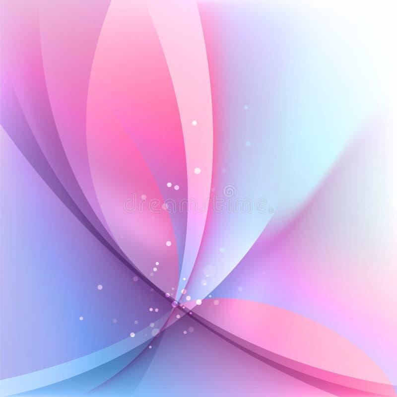 Borrões rosados ilustração royalty free