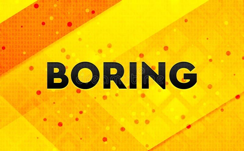 Borra gul bakgrund för abstrakt digitalt baner stock illustrationer