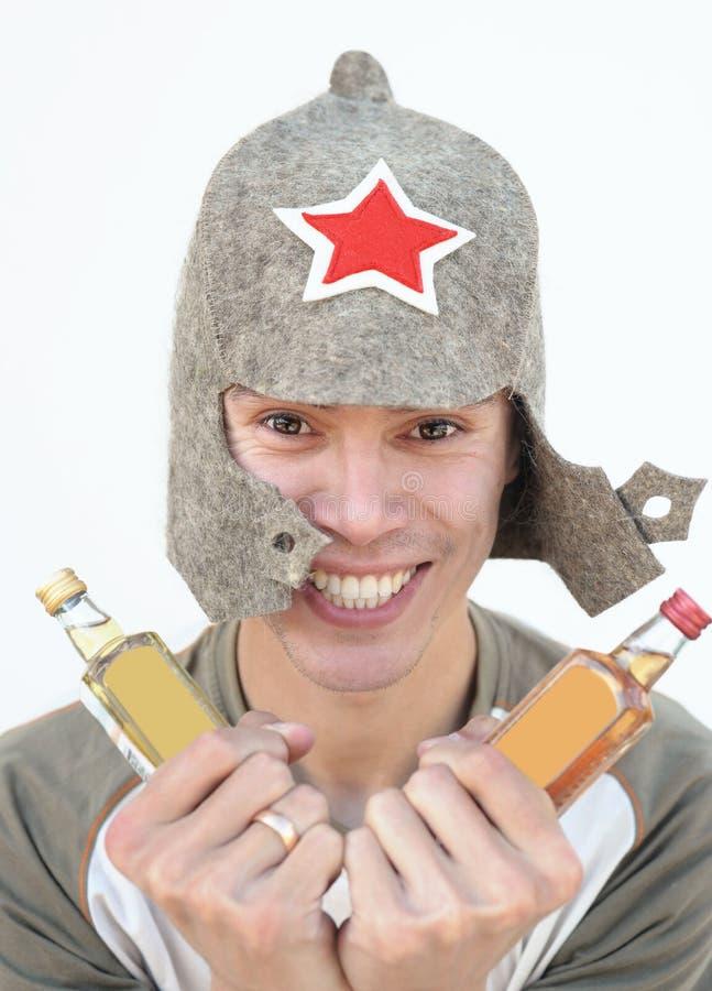 Borrachín ruso imagen de archivo