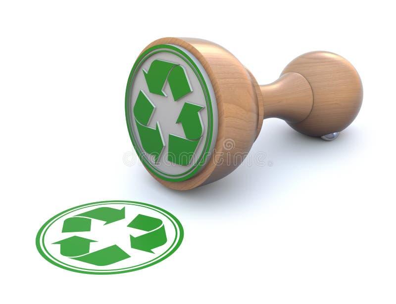 Borracha carimbar-recyclable ilustração do vetor
