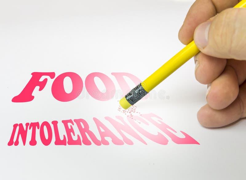 Borrado del lápiz del fondo de la intolerancia de la comida fotografía de archivo libre de regalías