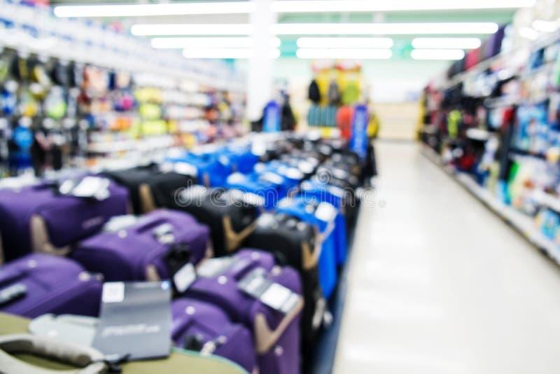 Borrado, shopping de foco, bagagem fotos de stock royalty free