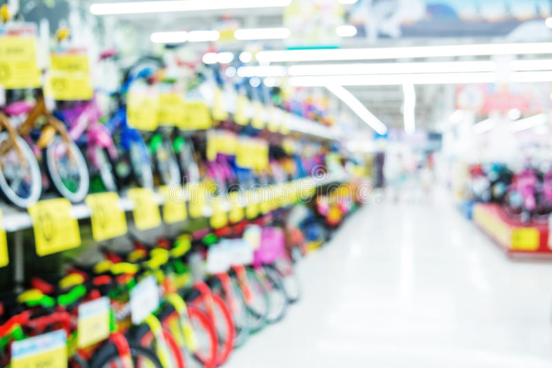 Borrado, shopping de foco, bicicletas imagem de stock