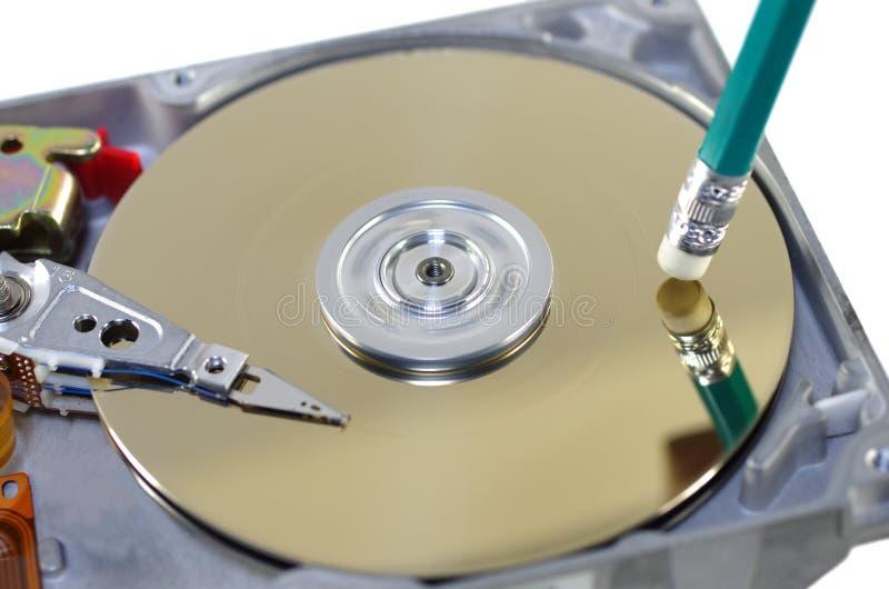 Borradura de datos imagen de archivo