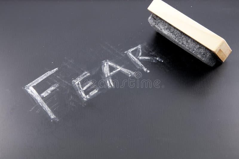 Borradura de miedo fotos de archivo