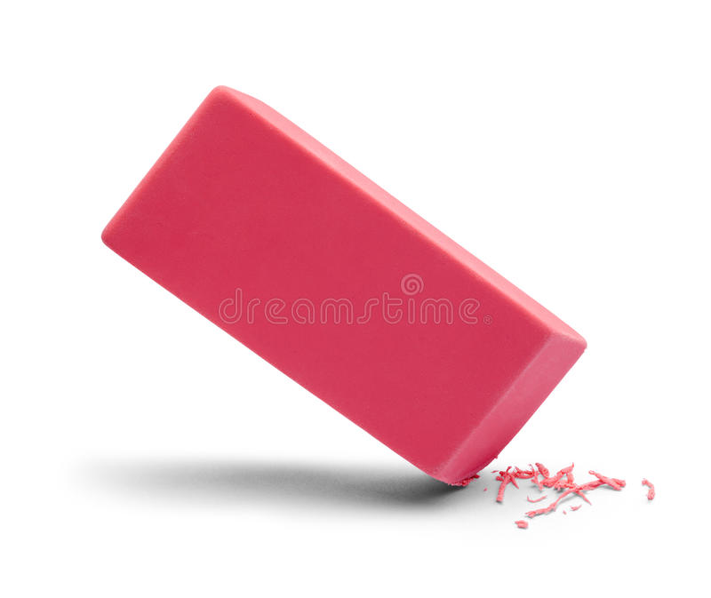 Borradura del rosa del borrador fotos de archivo libres de regalías