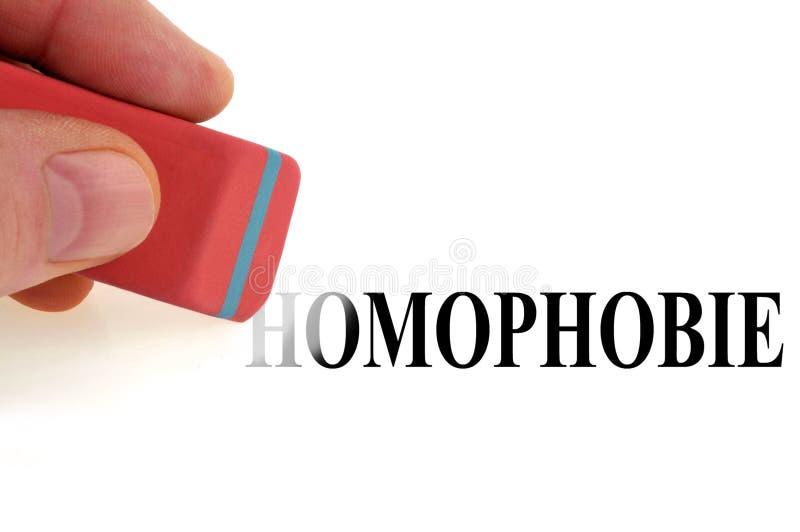 Borre la homofobia de la palabra libre illustration