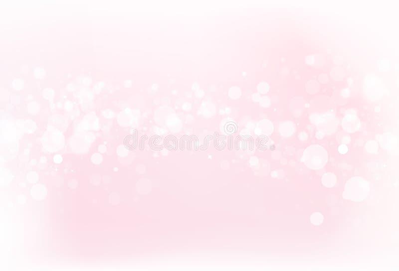 Borre o fundo cor-de-rosa v do sumário do conceito do brilho da faísca da estrela de Bokeh ilustração royalty free