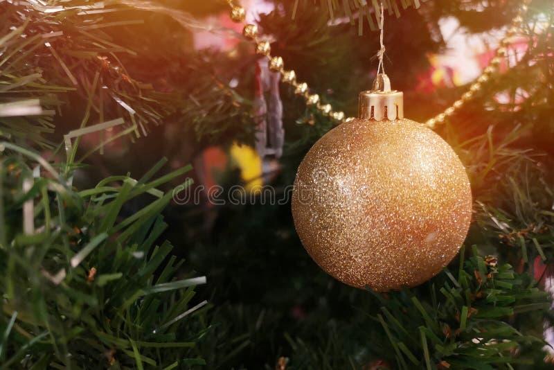 Borre o fundo macio Bola decorada com cores brilhantes no festival fotografia de stock