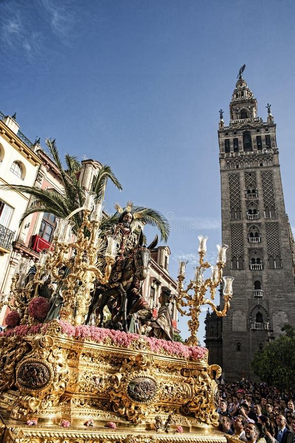 Borriquita bractwo, Święty tydzień w Seville fotografia stock