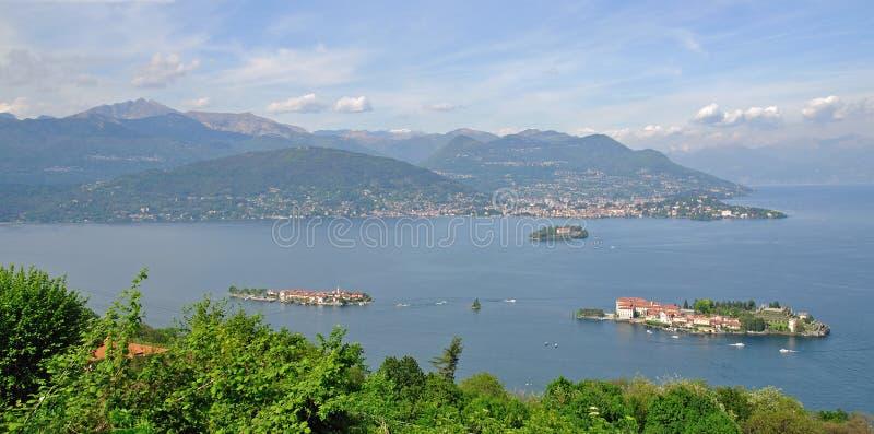 borromean λίμνη isola νησιών bella maggiore στοκ εικόνες