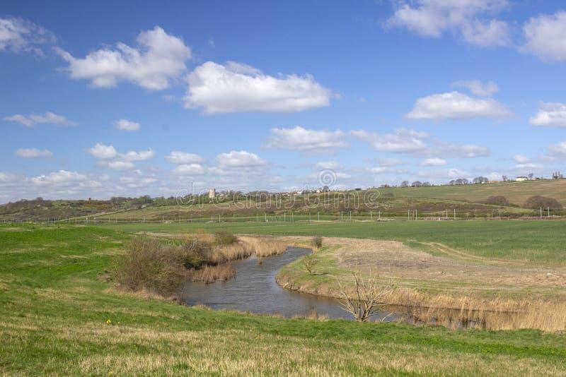 Borrow Dijk, Hadleigh-Moerassen, Essex, Engeland royalty-vrije stock foto